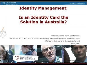 Identity Management Is an Identity Card the Solution