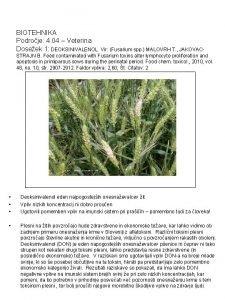 BIOTEHNIKA Podroje 4 04 Veterina Doseek 1 DEOKSINIVALENOL