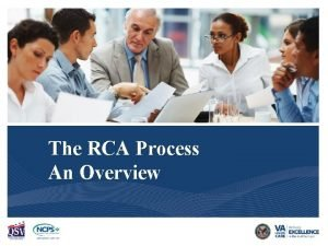 Decision to do an RCA The RCA Process