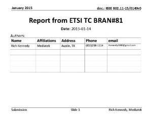 January 2015 doc IEEE 802 11 150149 r