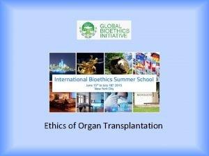 Ethics of Organ Transplantation Ethical Considerations in Transplantation