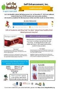 Self Enhancement Inc Lets Get Healthy visited Self