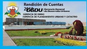 Rendicin de Cuentas 2019 GERENCIA DE OBRAS GERENCIA