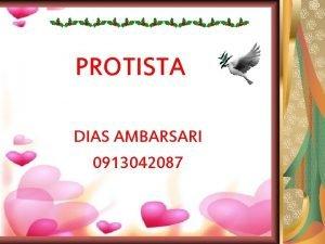 PROTISTA DIAS AMBARSARI 0913042087 KOMPETENSI CIRI PROTISTA MIRIP