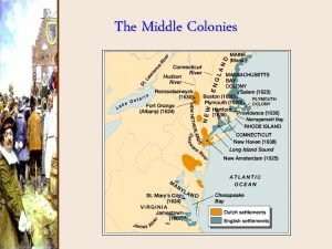 The Middle Colonies The Middle Colonies were called