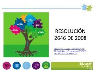 RESOLUCIN 2646 DE 2008 https www youtube comwatch