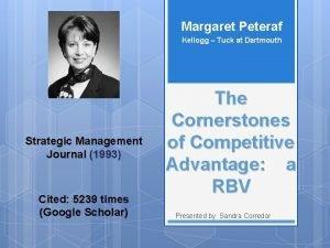 Margaret Peteraf Kellogg Tuck at Dartmouth Strategic Management