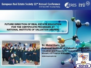 LOGO FUTURE DIRECTION OF REAL ESTATE EDUCATION FOR