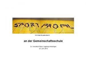 www wiprechtgymnasium de an der Gemeinschaftsschule Dr Veronika