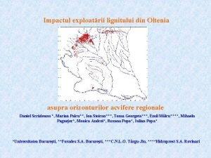 Impactul exploatrii lignitului din Oltenia asupra orizonturilor acvifere