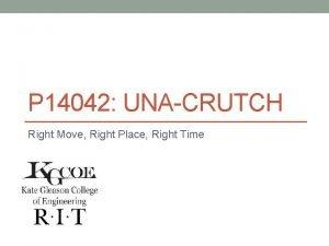 P 14042 UNACRUTCH Right Move Right Place Right