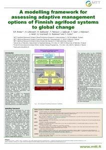 A modelling framework for assessing adaptive management options