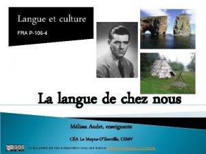 Langue et culture FRA P106 4 La langue