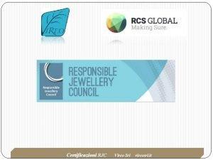 Certificazioni RJC Vireo Srl vireosrl it 1272020 Certificazione