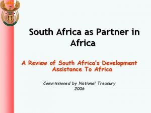 South Africa as Partner in Africa A Review