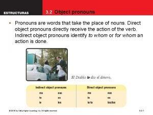 3 2 Object pronouns Pronouns are words that