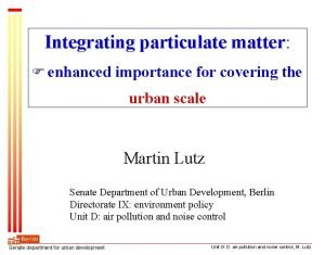 Integrating particulate matter matter enhanced importance for covering