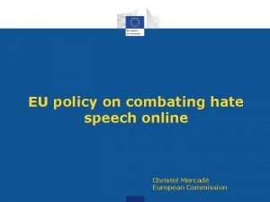 EU policy on combating hate speech online Christel