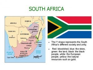 SOUTH AFRICA The Y shape represents the South