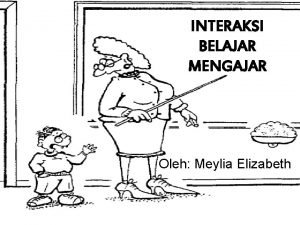 INTERAKSI BELAJAR MENGAJAR Oleh Meylia Elizabeth INTERAKSI BELAJAR