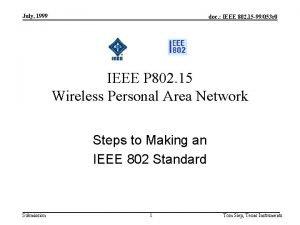July 1999 doc IEEE 802 15 99053 r