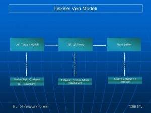 likisel Veri Modeli Veri Taban Modeli likisel ema