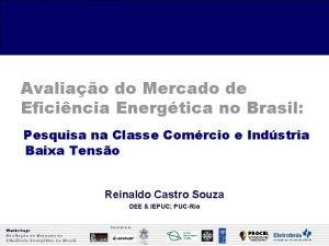 Avaliao do Mercado de Eficincia Energtica no Brasil