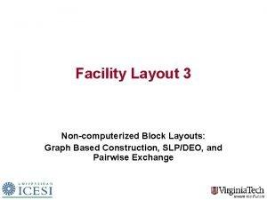 Facility Layout 3 Noncomputerized Block Layouts Graph Based