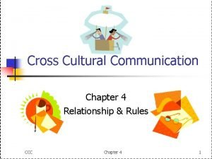 Cross Cultural Communication Chapter 4 Relationship Rules CCC