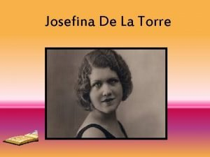 Josefina De La Torre ndice Biografa Obras literarias