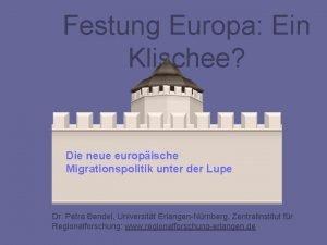 Festung Europa Ein Klischee Die neue europische Migrationspolitik