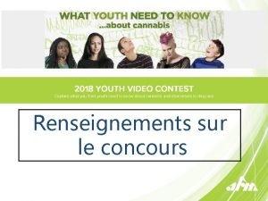 Renseignements sur le concours CONCOURS VIDO JEUNESSE 2018