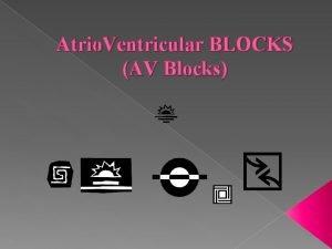 Atrio Ventricular BLOCKS AV Blocks AV Heart Blocks