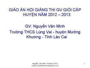 GIO N HI GING THI GV GII CP