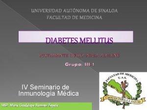 UNIVERSIDAD AUTNOMA DE SINALOA FACULTAD DE MEDICINA BUSTAMANTE