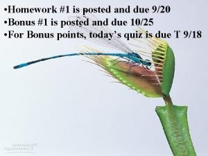Homework 1 is posted and due 920 Bonus