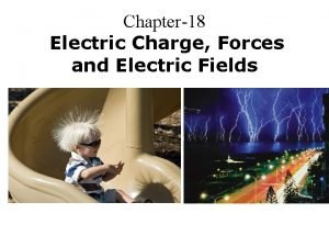 Chapter18 Electric Charge Forces and Electric Fields Electric