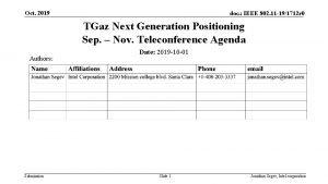 Oct 2019 doc IEEE 802 11 191712 r