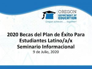 2020 Becas del Plan de xito Para Estudiantes