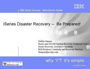 IBM Global Services IBM e Server i Series
