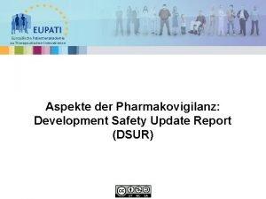 Europische Patientenakademie zu Therapeutischen Innovationen Aspekte der Pharmakovigilanz