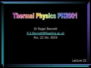 Dr Roger Bennett R A BennettReading ac uk