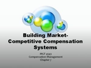 Building Market Competitive Compensation Systems MGT 4543 Compensation
