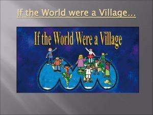 If the World were a Village Village Population