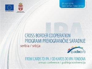 Odeljenje za programe prekogranine saradnje Ministarstva finansija i
