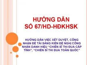 HNG DN S 67HDHKHSK HNG DN VIC XT