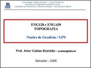 Universidade Federal da Bahia Escola Politcnica Mestrado em