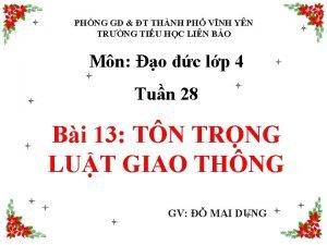 PHNG GD T THNH PH VNH YN TRNG