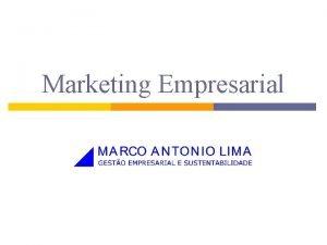Marketing Empresarial p Captulo 1 p Marketing uma