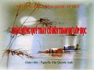 TRNG THCS HM NGHI TP HU Gio vin